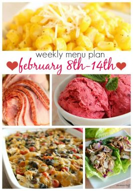 Weekly Menu Plan February 8th-14th