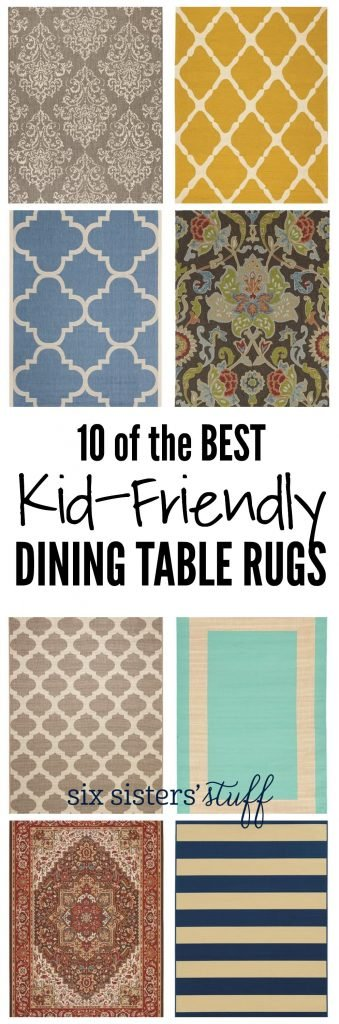 10 of the Best Kid-Friendly Dining Table Rugs from SixSistersStuff