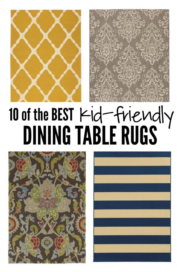 10 of the best kid friendly dining table rugs six for Best rugs for dining room
