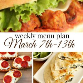 Weekly Menu Plan March 7th-13th
