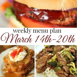 Weekly Menu Plan March 14th-20th
