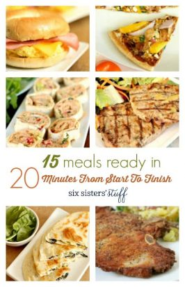 15 Meals Ready in 20 Minutes from Start To Finish