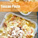 20 Minute Tuscan Pasta
