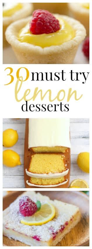30 must try lemon desserts pin