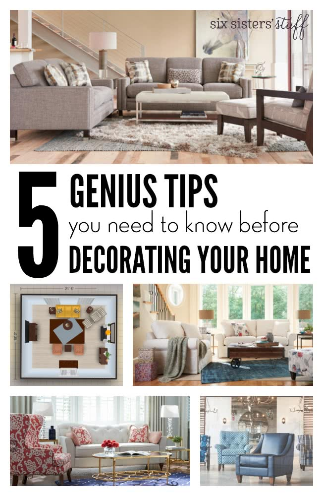 5 Genius Tips for Decorating Your Home | Six Sisters\' Stuff