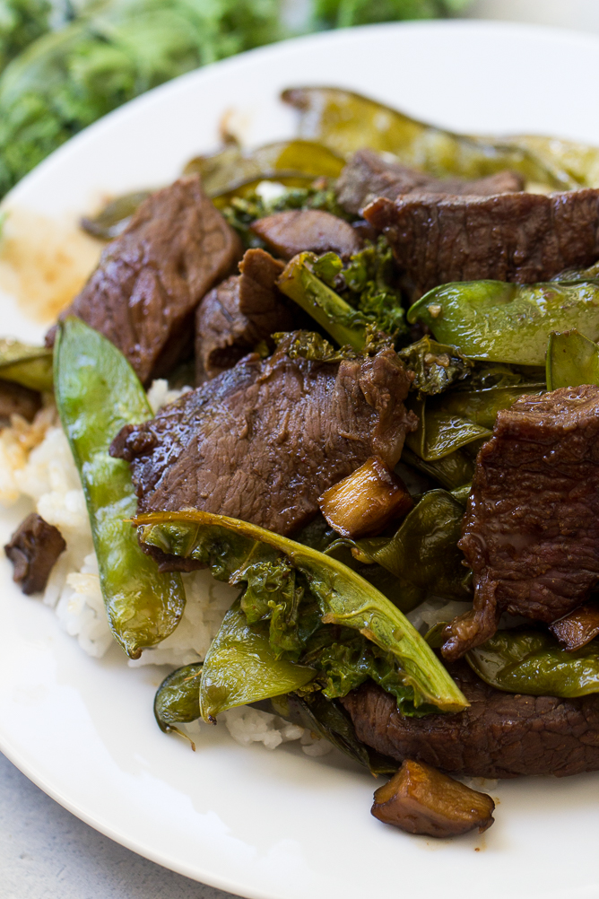 Asian Beef and Snow Peas