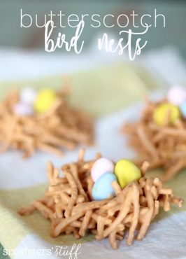Butterscotch Bird Nest Treats (with Chow Mein Noodles)