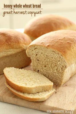 Great Harvest Honey Whole Wheat Bread Copycat