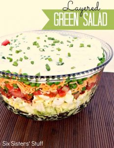 Layered Green Salad Recipe