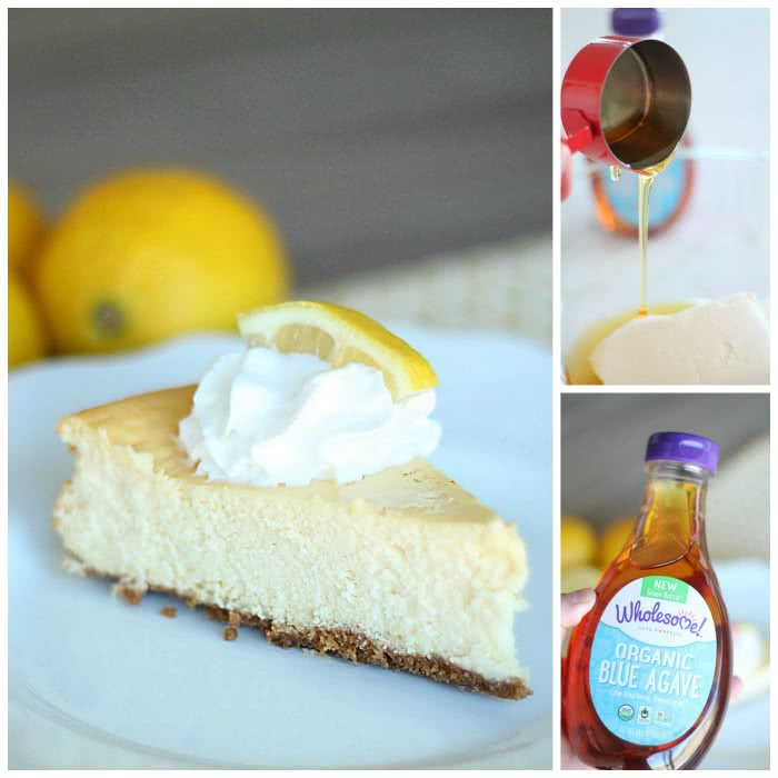 Lemon Cheesecake With Wholesome Blue Agave