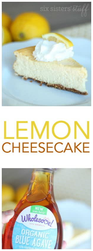 Lemon Cheesecake with Agave Syrup from SixSistersStuff.com