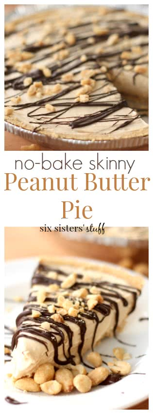 Skinny No Bake Peanut Butter Pie | Six Sisters' Stuff
