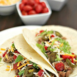 Slow Cooker Pork Chalupas on SixSistersStuff