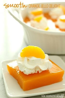Smooth Orange Jell-o Delight