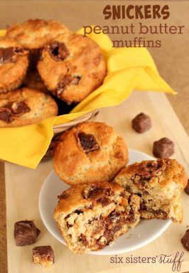 Snickers Peanut Butter Muffins