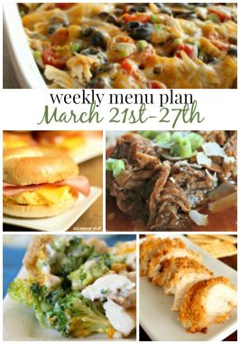 Weekly Menu Plan March 21st-27th