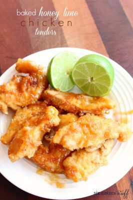 Baked Honey Lime Chicken Tenders