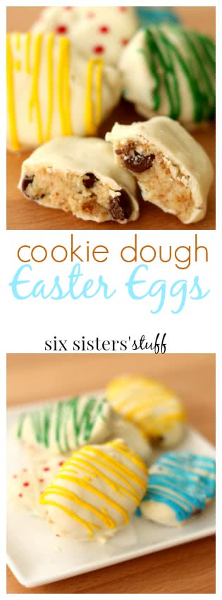 cookie dough easter eggs from six sisters' pin