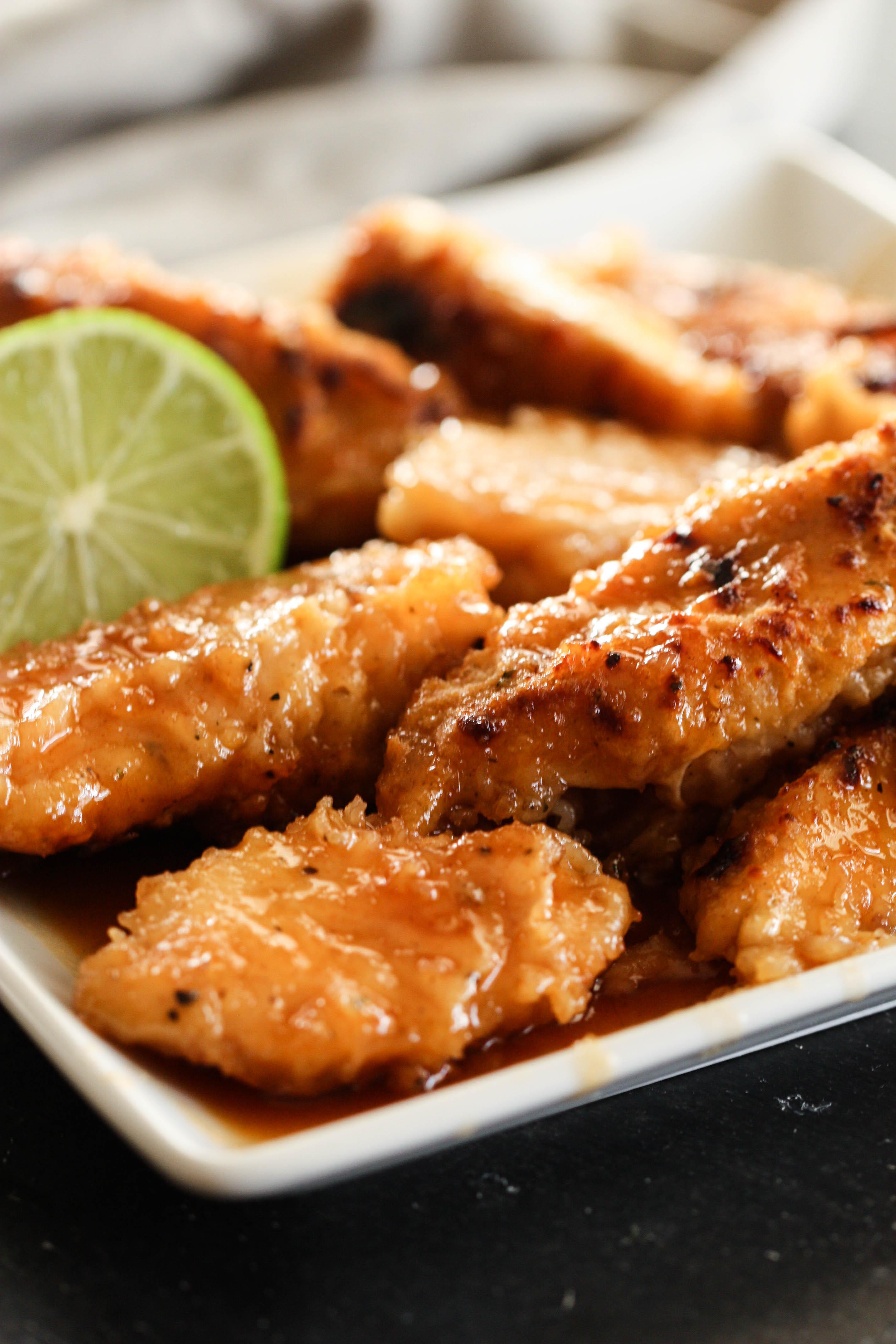 Baked Honey Lime Chicken Tenders Recipe