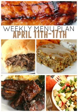 Weekly Menu Plan April 11th-17th