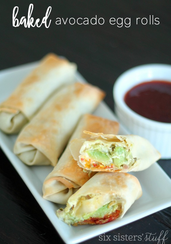 Baked Avocado Egg Rolls from SixSistersStuff.com