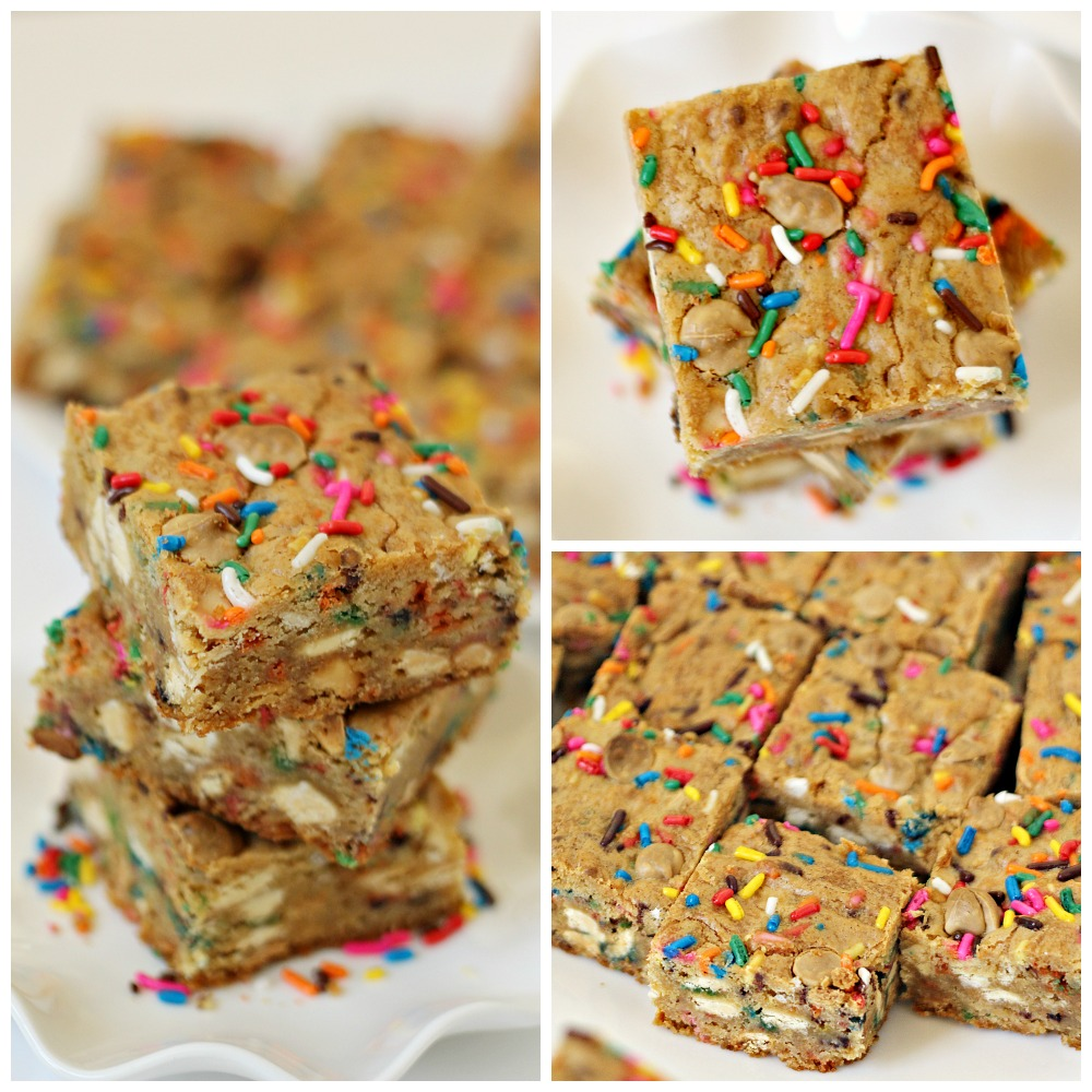 Confetti Cookie Bars from SixSistersStuff