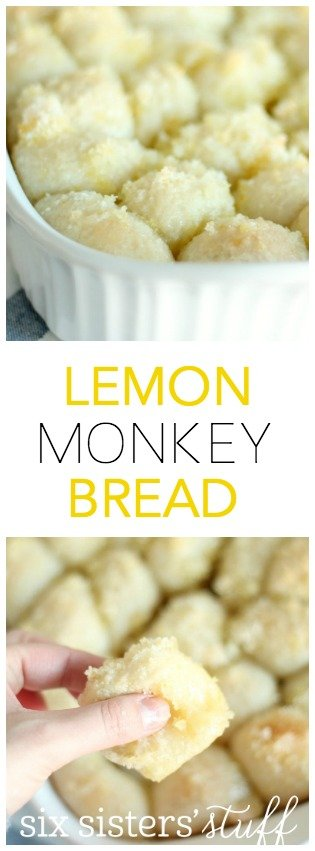 Easy Lemon Monkey Bread from SixSistersStuff.com!