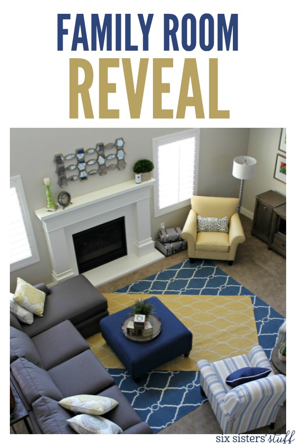 Family Room Reveal on SixSistersStuff