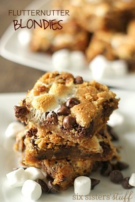 Fluffernutter Chocolate Chip Blondies
