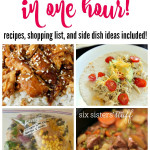 Make 8 Freezer Meals in One Hour on SixSistersStuff