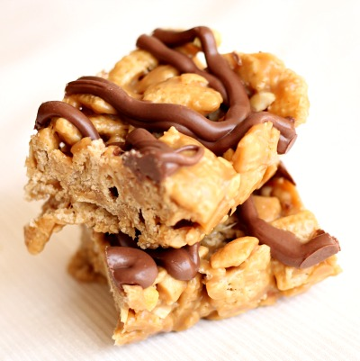 No Bake Peanut Butter Chex Bars 2