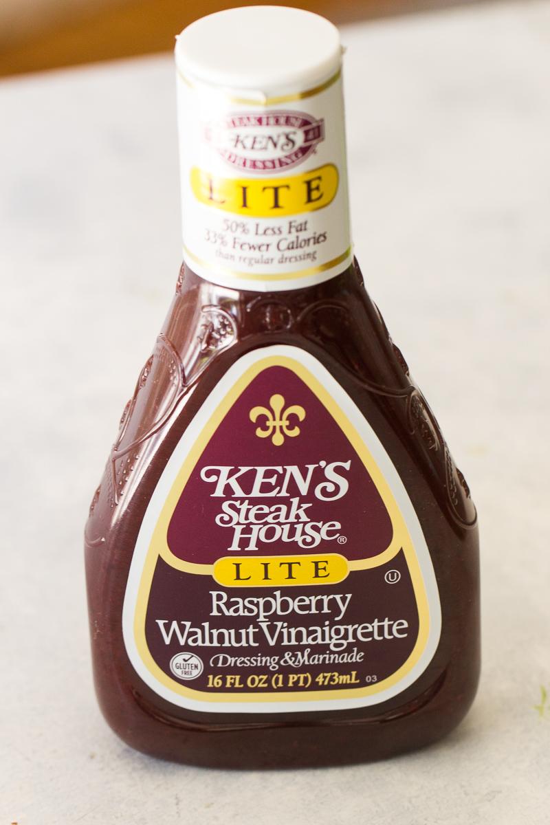 bottle of raspberry vinaigrette salad dressing
