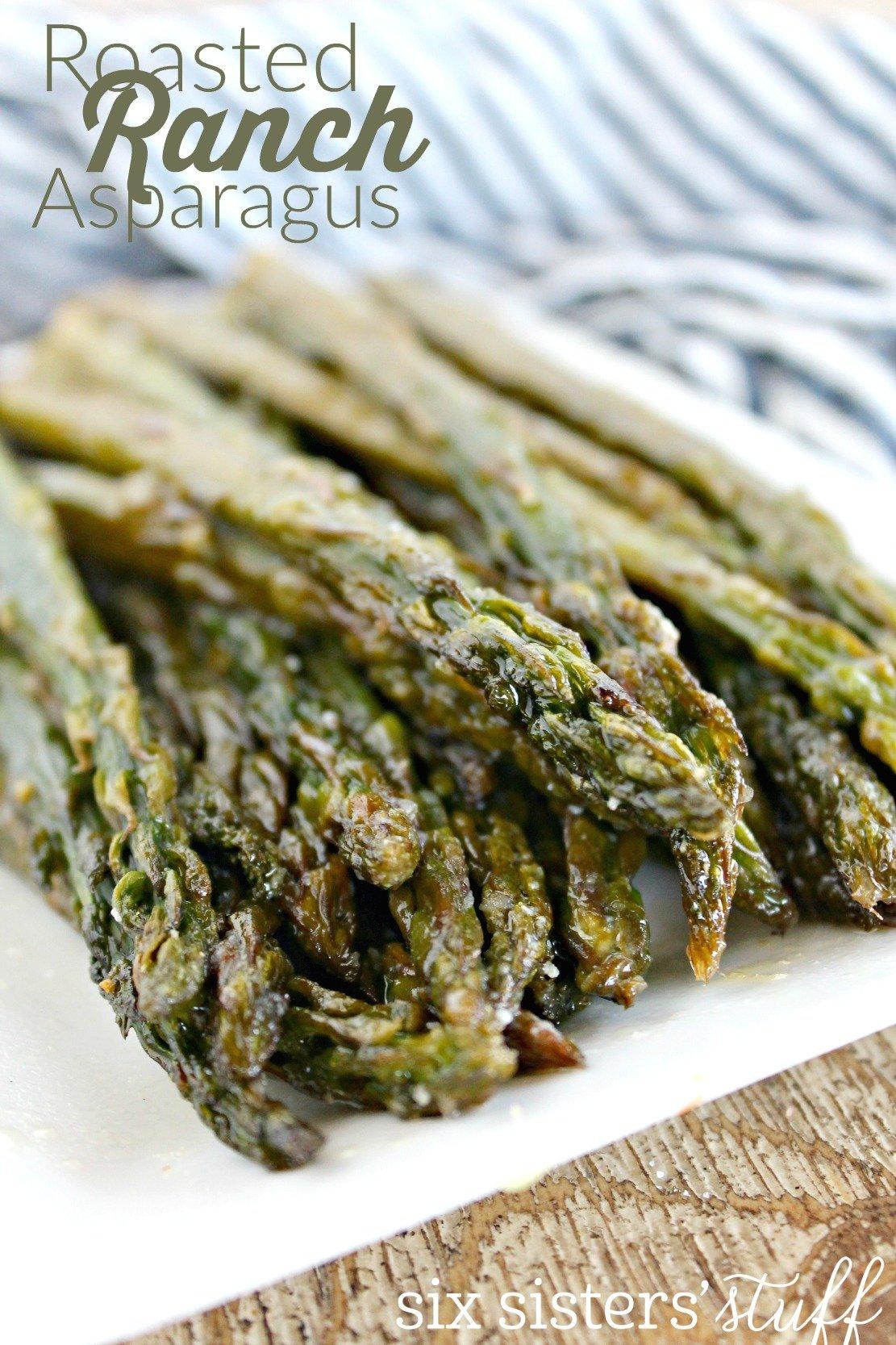Easy Roasted Ranch Asparagus