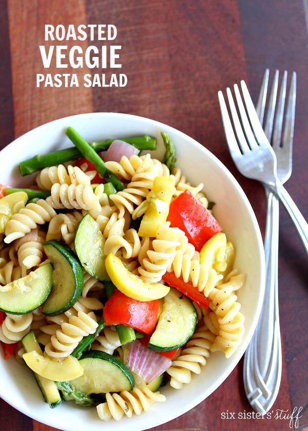 Roasted Veggie Pasta Salad – Six Sisters' Stuff