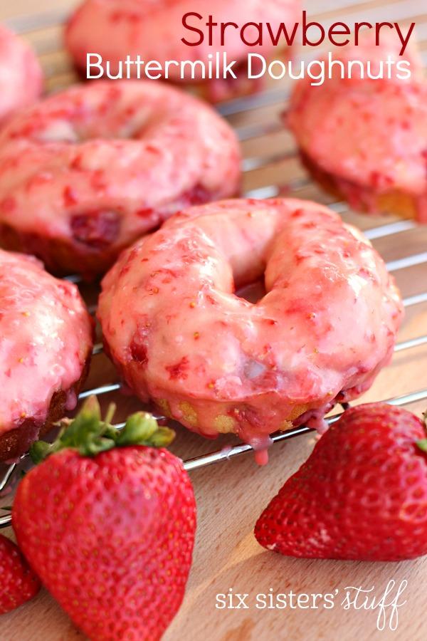 Strawberry Buttermilk Doughnuts Recipe