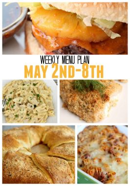 Weekly Menu Plan May 2nd – 8th