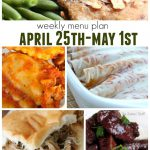 Weekly Menu Plan April 25 May 1