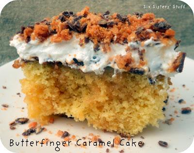 butterfinger caramel cake
