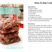 minty no bake cookies