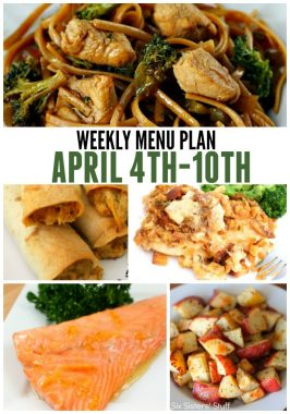 Weekly Menu Plan April 4th-10th
