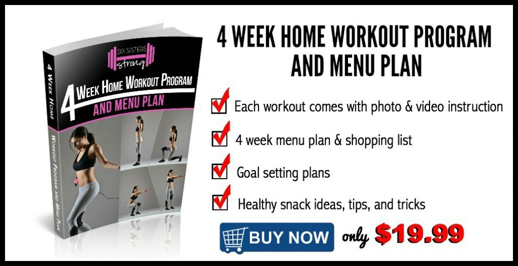 4 Week Home Workout Program and Menu Plan