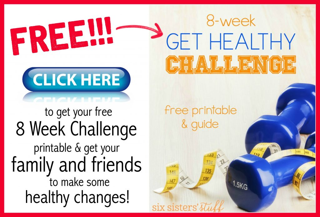 8 Week Get Healthy Challenge Printable for free