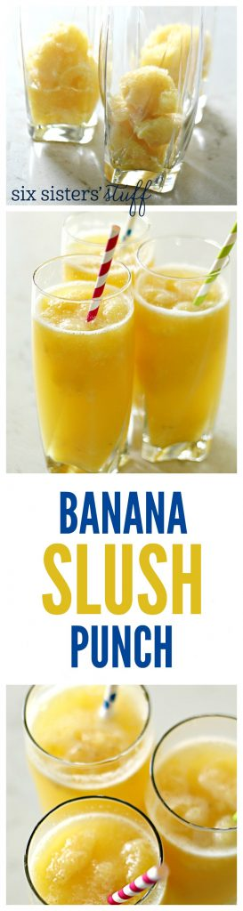 Banana Slush Punch from SixSistersStuff