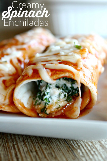 vegetarian enchiladas recipe with spinach and cheese
