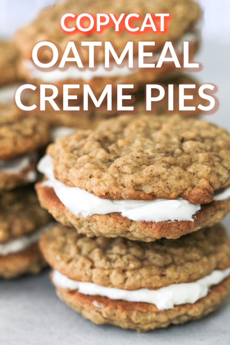 Homemade Oatmeal Creme Pies stacked