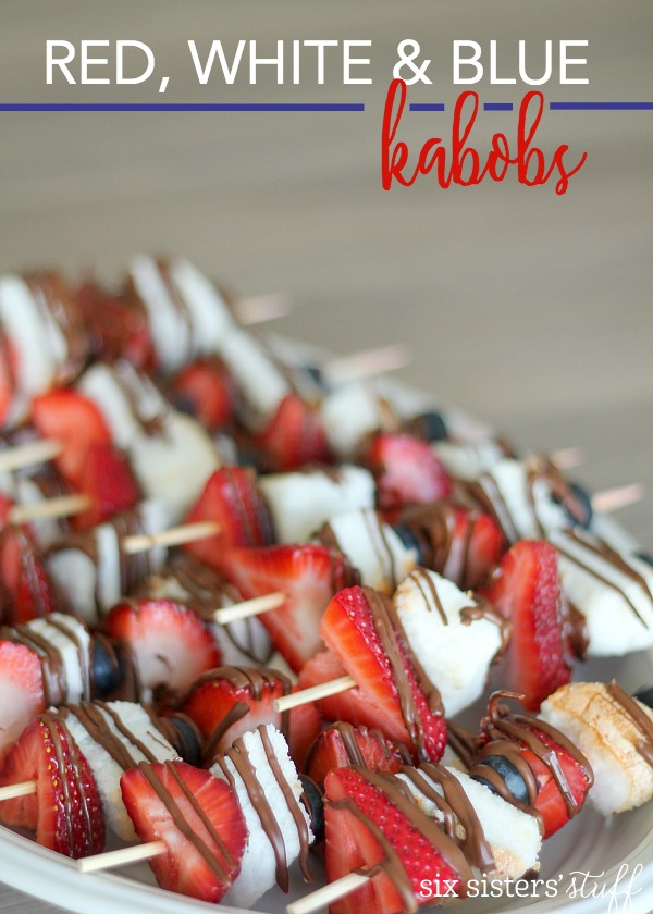 Red, White and Blue Kabobs
