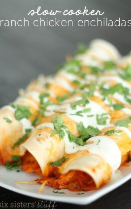 Slow Cooker Ranch Chicken Enchiladas