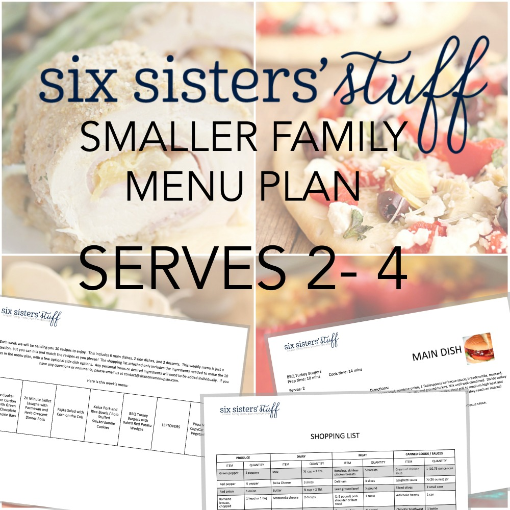 Smaller Family Menu Plan Square