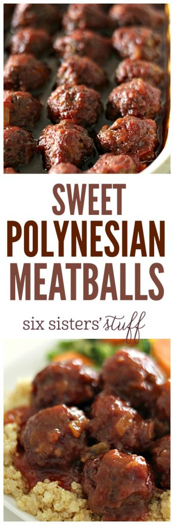 Sweet Polynesian Meatballs from SixSistersStuff