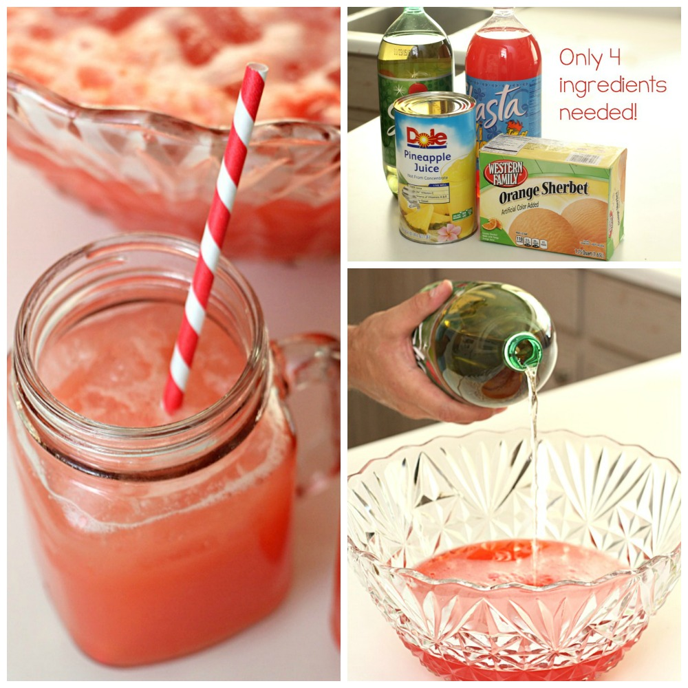 The Easiest Fruit Party Punch from SixSistersStuff